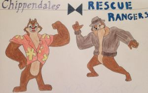 Chippendales Stripper/Rangers by RedMcSpoon