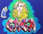 Lady Gaga / Graffiti by lgsrubyslippers