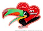 Vintage valentine card (toucan)! by Turbotastique