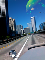 Seattle skyline with photo-manipulation.. by celsiusrising