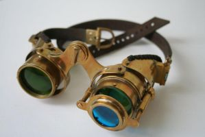 Steampunk goggles 'N-axis'2 by Gogglerman