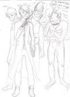 Main characters to the Netherworld prologue comic by ShadowChaser12