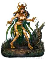 Dragon Priestess for Talisman by feliciacano