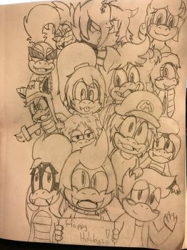 Group Photo (complete sketch) by MegaLucario225