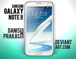 Samsung Galaxy Note II [White] [psd] by danishprakash
