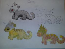 Elemental Tiger Adopts-Metal Edition: OPEN by totodile-fan