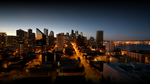 Seattle At Dawn With Gradient by jakeroot