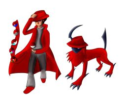Red Sibot OC/ Red Sibot Pokesona WiP by ShiningAster