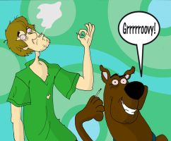 Scooby Doo and Shaggy Stoned by HanzSolo