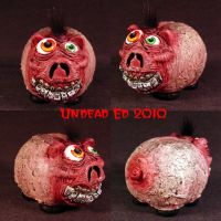 Rot Freaky Face Piggy Bank by Undead-Art
