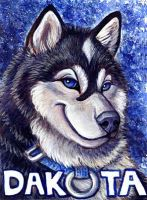 Dakota Malamute Badge by Foxfeather248
