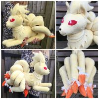 Huge Ninetales Plush by LovingMissMuse