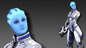 Liara Wallpaper by DarklordIIID