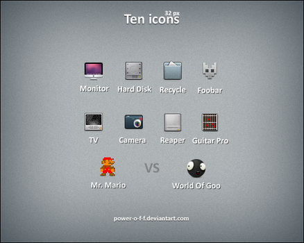 Ten Icons by Power-O-F-F