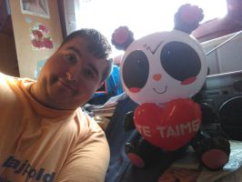 Me and My Inflatable Panda With Heart by PoKeMoNosterfanZG