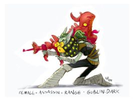 daily hero 41 - Goblin Dark Assassin by shoze