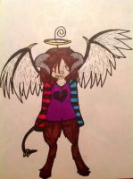 Twisted Angel Devil That is neither dead or alive by evil-vivianne