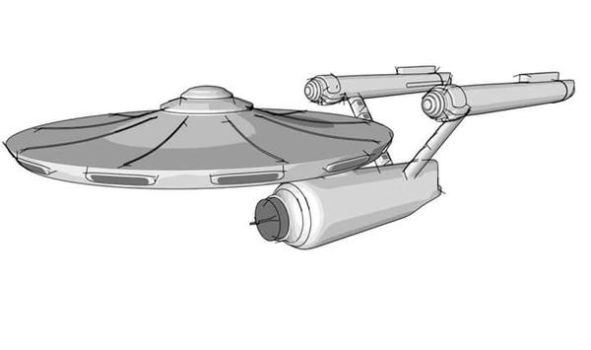Spaceship Enterprise in Sketch and Toon by BenC4D
