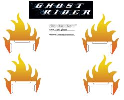 Ghost rider's fire cubeecraft by melopruppo