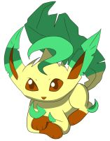 Chibi: Leafeon from Pokemon by animereviewguy