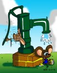 The Water Pump by JimmyCartoonist