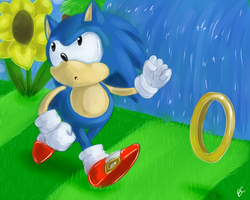 One Hour Sonic: Classic Sonic by Mitzy-Chan
