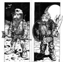 Space and Viking - Ink by mikegee777