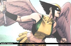 Hawkgirl Wallpaper by ReillyBrown
