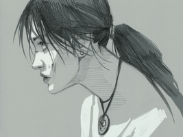 Portrait of Lara Croft by characterundefined