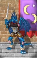 Avalon the Dragonknight by suzidragonlady