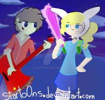 Adventure Time with Fionna and Marshall by starto0ns
