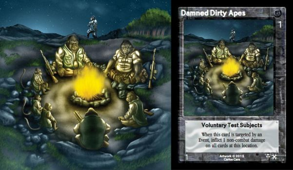 Damned Dirty Apes Card by castortroy3497