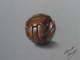 Leather volleyball DRAWING by Marcello Barenghi by marcellobarenghi