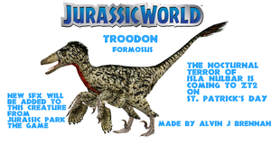 Troodon Jurassic World by GorgonGorgosaurus
