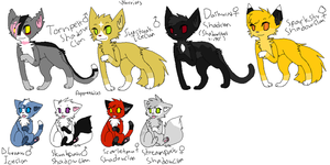 Free Warriors Adopts~Closed by alliekittycat