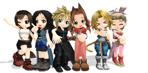 Final Fantasy Chibis by Jun-Himekawa
