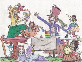 Mad Hatter's Tea Party by tom-girl5973