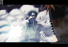 Kakashi vs pain by themnaxs