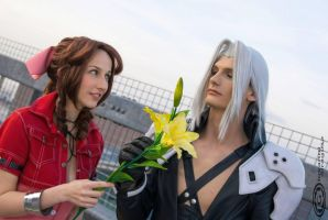 Aerith and Sephiroth by MademoiselleDaae
