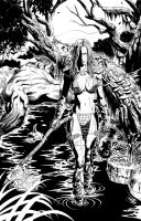 Red Sonja: Pencil Art 02 by JacksonHerbert