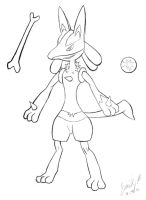 Lucario - LineArt by FroggyDreams