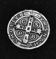 St. Benedict Medal [reverse] by RipperBlack666