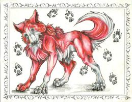 little red wolf by VioletMinim