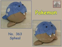 Spheal, ice and water Pokemon by ladymana-reffia
