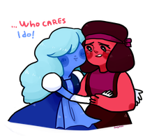 Sapphire and Ruby by Fingurken