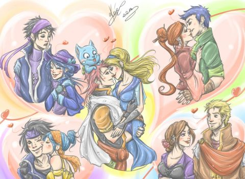 Fairy Tail Couples - Adults by sarumanka