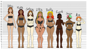 OC Height Reference by LaDiablesse