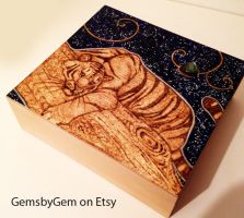 Bengal Tiger Star-gazing Labradorite Box by BumbleBeeFairy