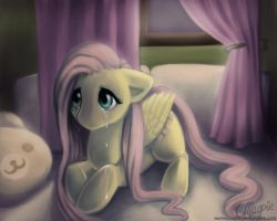 Sad Fluttershy by LaurenMagpie