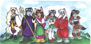 InuYasha-tachi as Furries by Yumi-San1688